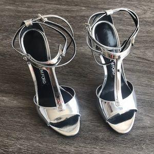 Tom Ford Silver Strappy Heel (rare)